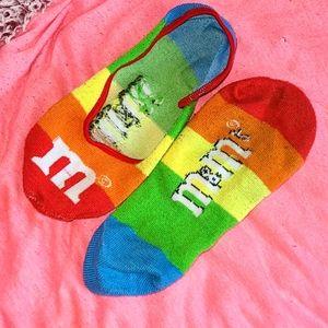 🌈 M&M's Rainbow Socks for Flats